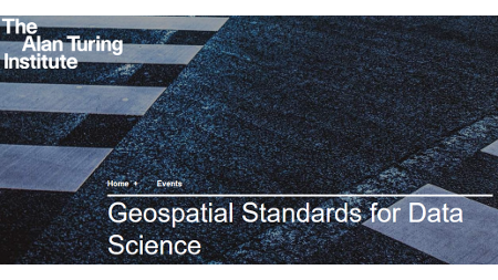 "Workshop ""Geospatial Standards for Data Science"""